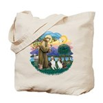 St Francis (Wff) - Two Shelties Tote Bag