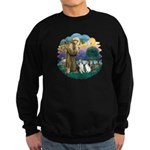 St Francis (Wff) - Two Shelties Sweatshirt (dark)