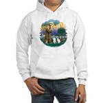 St Francis (Wff) - Two Shelties Hooded Sweatshirt