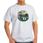 St Francis (Wff) - Two Shelties Light T-Shirt