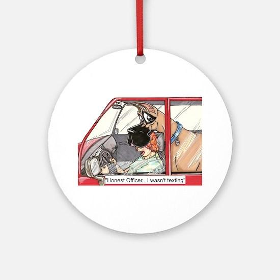 CF Honest Officer Ornament (Round)