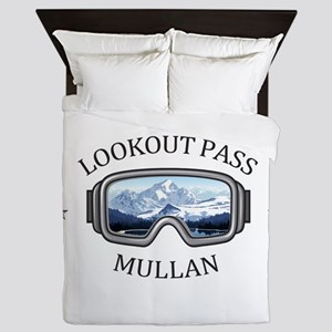 Lookout Pass - Mullan - Idaho Queen Duvet