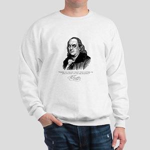 Ben Franklin Loves Beer Sweatshirt