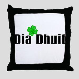Hello (in Irish) Throw Pillow
