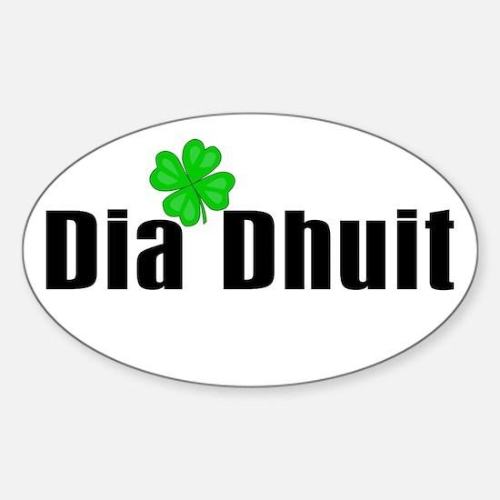 Hello (in Irish) Oval Decal