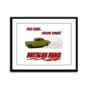 OLD CARS...GOOD TIMES! T-Shir Framed Panel Print