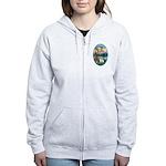 St Francis (W) - 2 Shelties (D&L) Women's Zip Hood