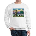 St Francis (W) - 2 Shelties (D&L) Sweatshirt
