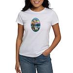 St Francis (W) - 2 Shelties (D&L) Women's T-Shirt