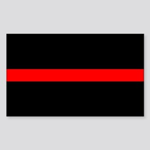 Thin Red Line Rectangle Decal