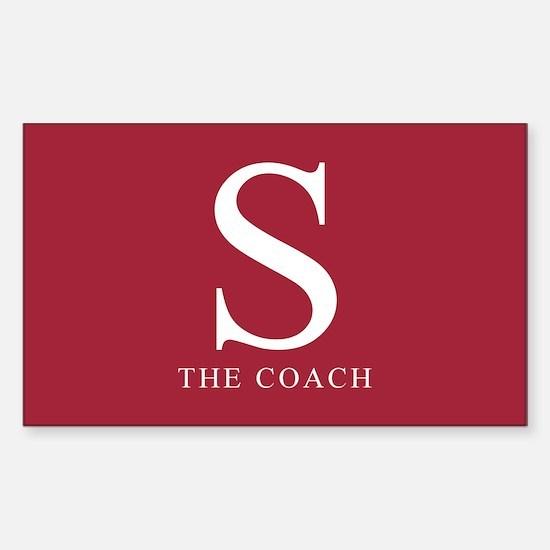 S The Coach Rectangle Bumper Stickers