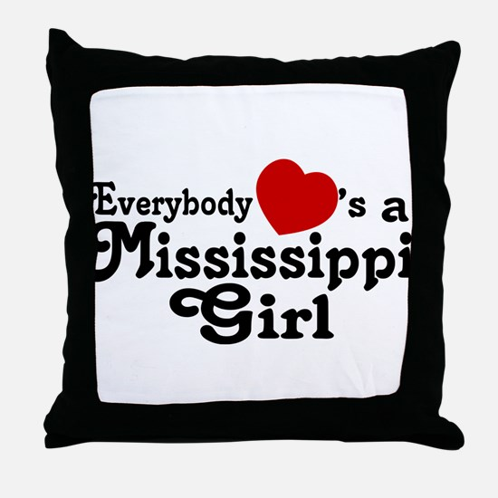 Everybody Hearts a MS Girl Throw Pillow