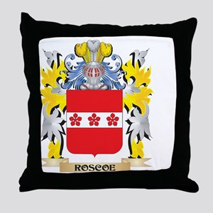 Roscoe Family Crest - Coat of Arms Throw Pillow