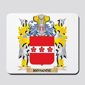 Roscoe Family Crest - Coat of Arms Mousepad