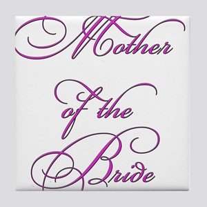Mother of the Bride - white Tile Coaster