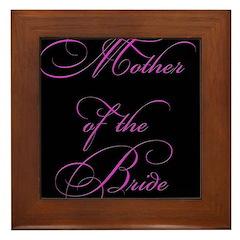 Mother of the Bride - black Framed Tile