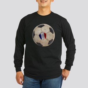 France Football Long Sleeve Dark T-Shirt