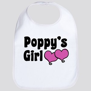 Poppy's Girl Cotton Baby Bib