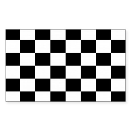 Checkered Flag Sticker (Rectangle)