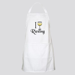I Drink Riesling Wine Apron