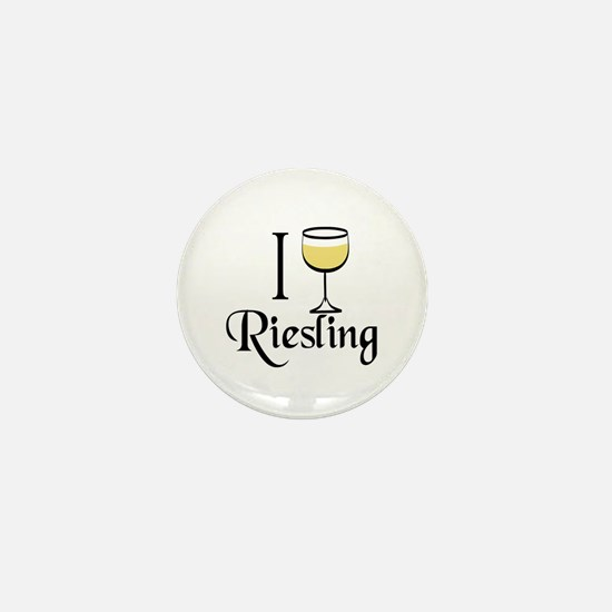 I Drink Riesling Wine Mini Button