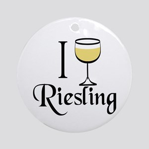 I Drink Riesling Wine Ornament (Round)