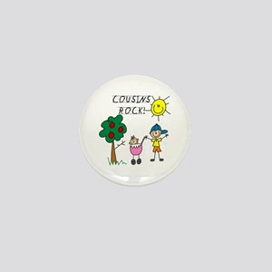 Cousins Rock One Mini Button