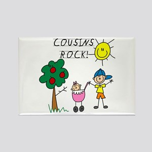 Cousins Rock One Rectangle Magnet