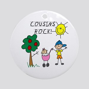 Cousins Rock One Ornament (Round)