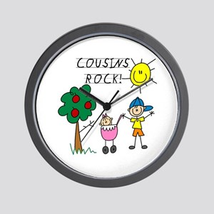 Cousins Rock One Wall Clock