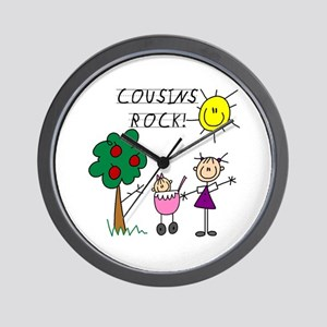 Cousins Rock Two Wall Clock