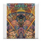 Africa.1 Land of Beauty Tile Coaster