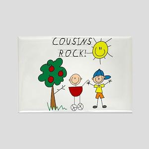 Cousins Rock Three Rectangle Magnet