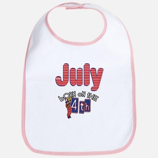 Born on the 4th of July Bib