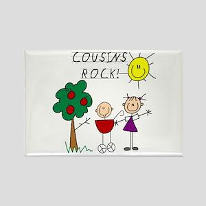 Cousins Rock Four Rectangle Magnet
