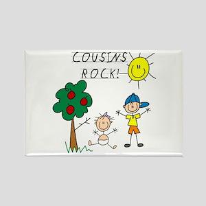 Cousins Rock Five Rectangle Magnet