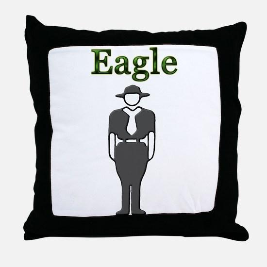 Cute Badge Throw Pillow