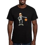 Sock Monkey Halloween Men's Fitted T-Shirt (dark)