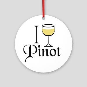 Pinot Wine Drinker Ornament (Round)