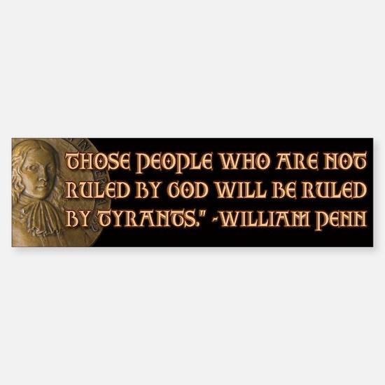 William Penn Quote Sticker (Bumper)