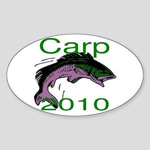 Carp Logo Sticker (Oval)