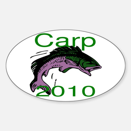 Carp Logo Sticker (Oval)