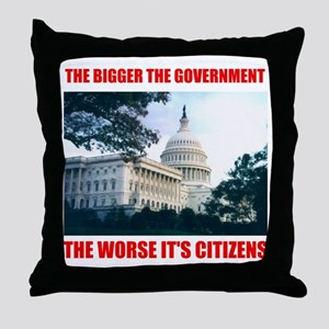 SMALLER GOVERNMENT Throw Pillow