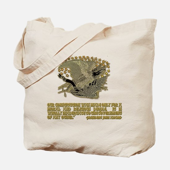 John Adams on a Moral & Relig Tote Bag