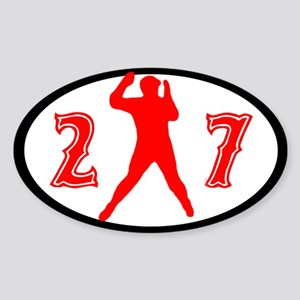 Oval Car Window Sticker Sticker (Oval)