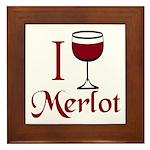 Merlot Drinker Framed Tile