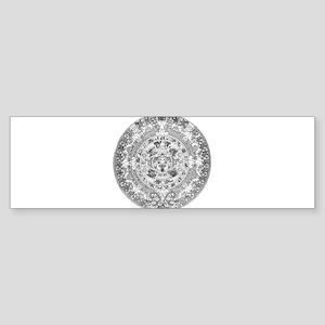 Aztec calendar Sticker (Bumper)