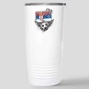 Soccer Fan Serbia Stainless Steel Travel Mug