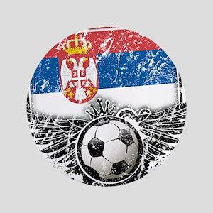 """Soccer Fan Serbia 3.5"""" Button"""