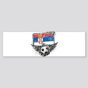 Soccer Fan Serbia Sticker (Bumper)